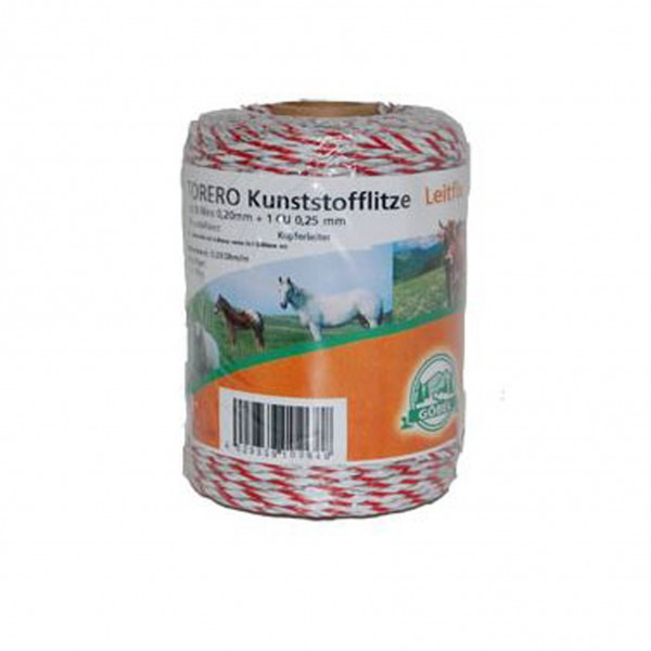 Kunststof schrikdraad 'Torero-Leitfix' wit/rood 200 meter Göbel