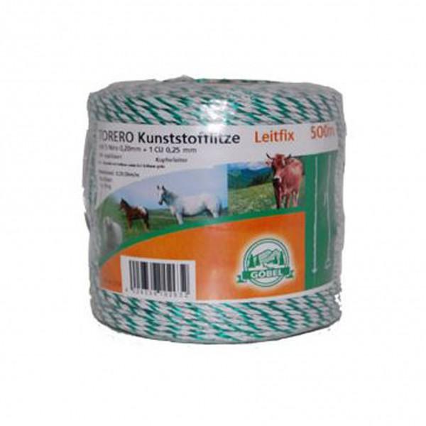 Kunststof schrikdraad 'Torero-Leitfix' 500m wit/groen Göbel
