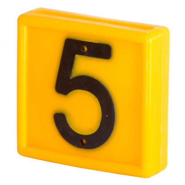 Nummerblokje 48x46mm voor halsmarkering '5'