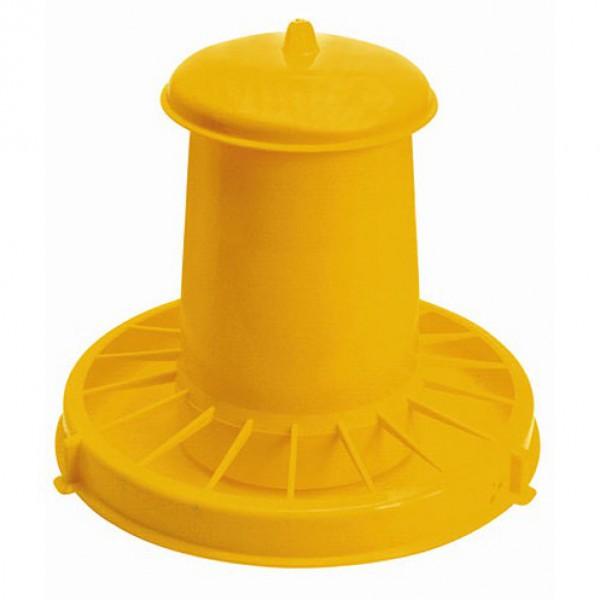 Voederautomaat kunststof geel 10,5L/7kg