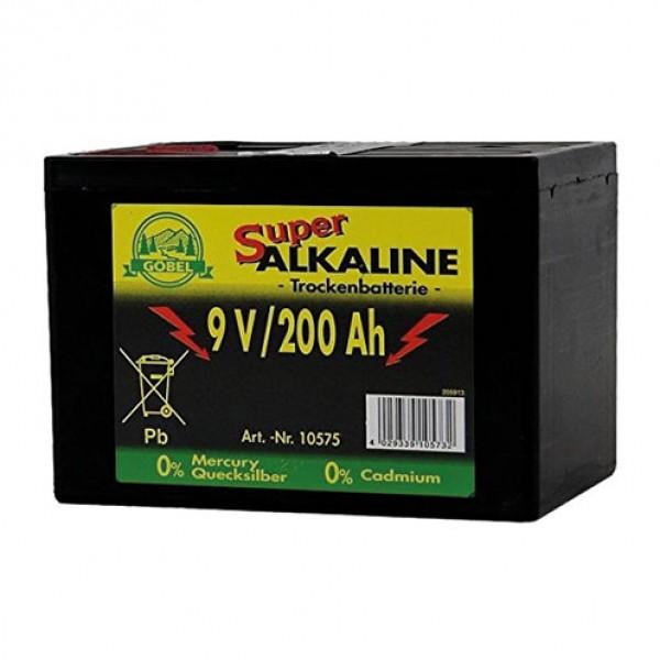 Alkaline batterij 9V/200Ah Göbel