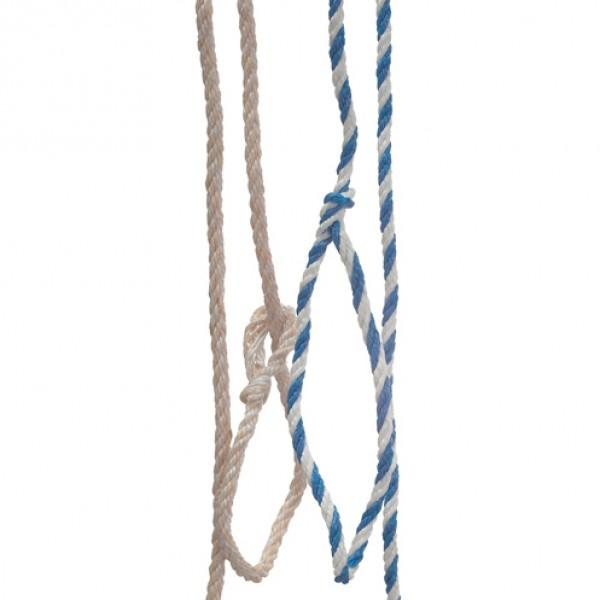 Koekoord Jute/PP blauw/wit 320cm