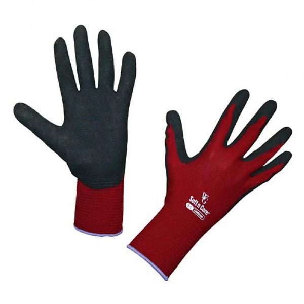 Handschoenen 'Soft N Care Landscape' rood