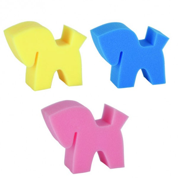 Spons 'Flecki' 3 stuks (geel/roze/blauw)