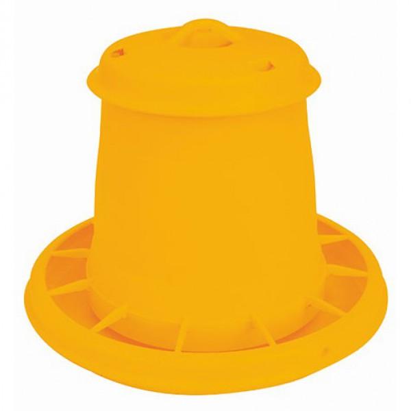 Voederautomaat kunststof geel 5,25L/3,5kg