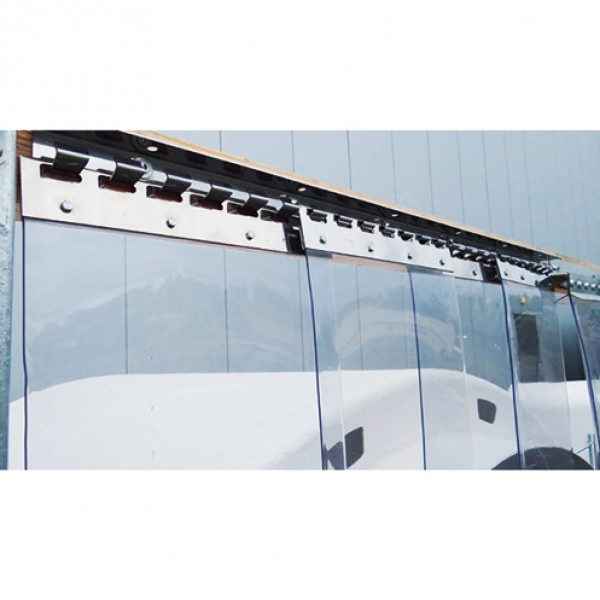 PVC gordijnstrips 300 x 3mm transparant, rol 50 meter