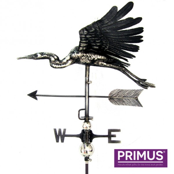 3D Flying Heron Weathervane with Garden Stake Primus