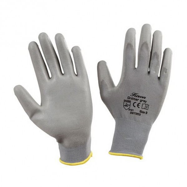Handschoenen 'Gnitter' grijs mt 7/S