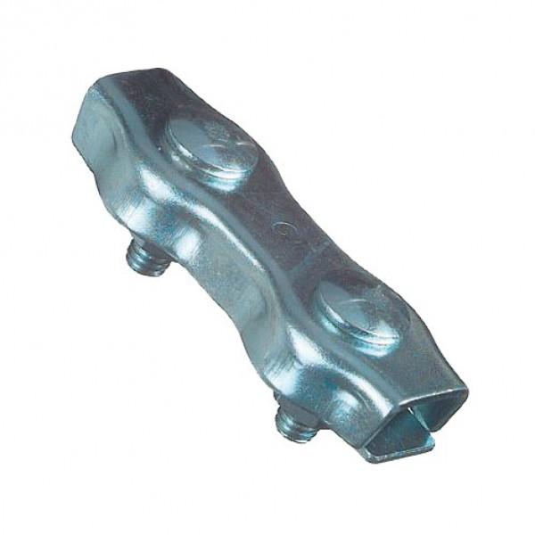 Duplex klem RVS 6 mm, blister 5 stuks
