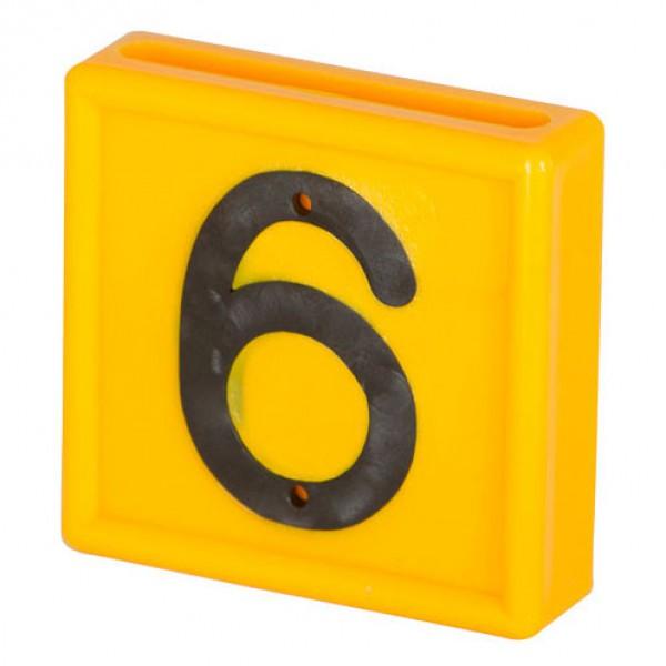 Nummerblokje 48x46mm voor halsmarkering '6/9'