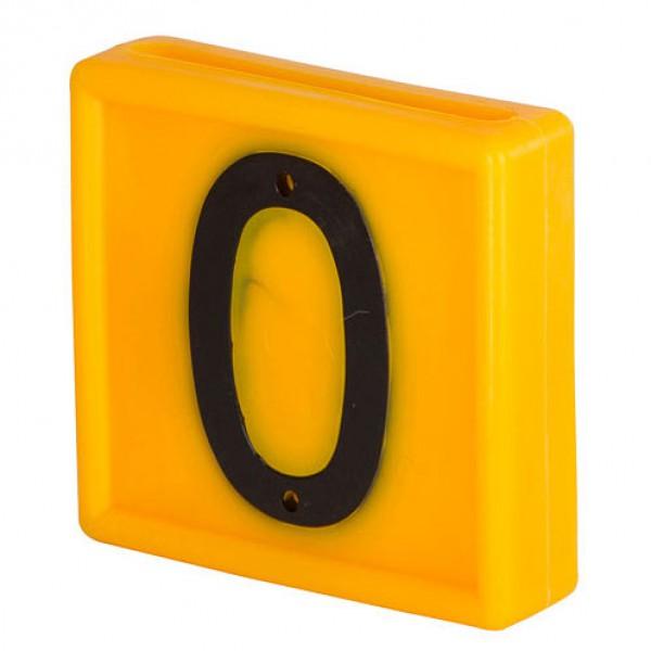 Nummerblokje 48x46mm voor halsmarkering '0'