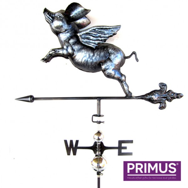 3D flying pig weathervane with garden stake Primus