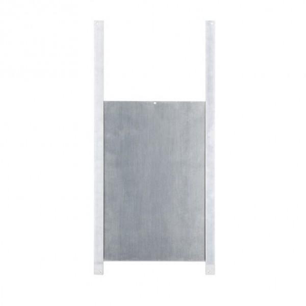 Kippendeur aluminium met rails 220x330mm
