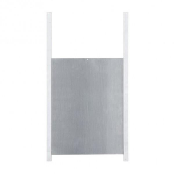 Kippendeur aluminium met rails 300x400mm