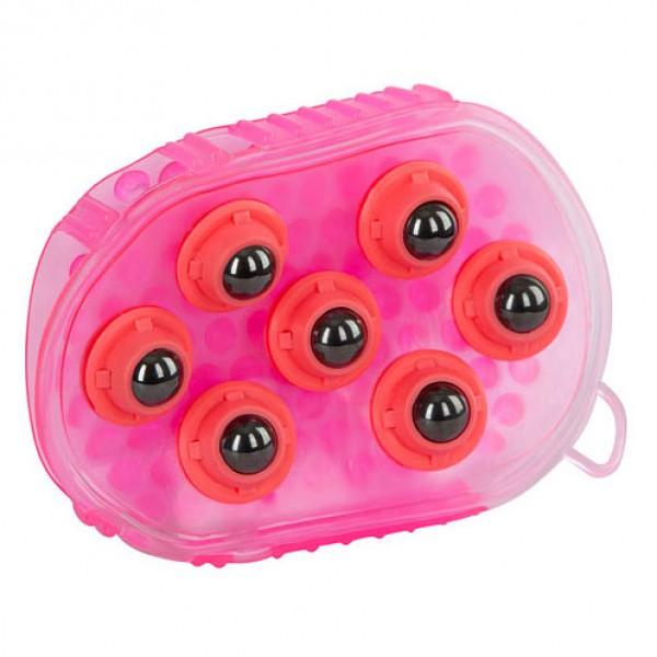 Massageborstel magnetisch roze