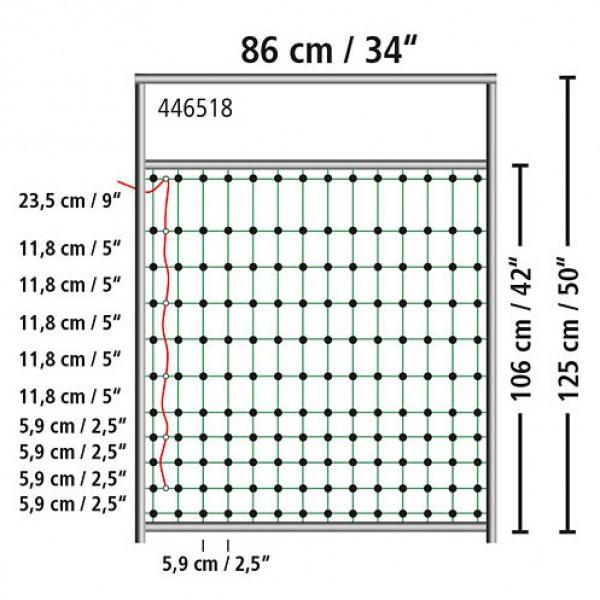 Poortje voor afrasteringsnet 86cm x 125cm