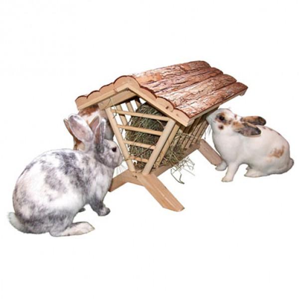 Hooiruif voor konijnen natuurhout 45x32x33cm