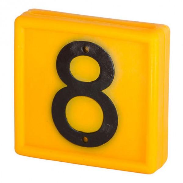 Nummerblokje 48x46mm voor halsmarkering '8'