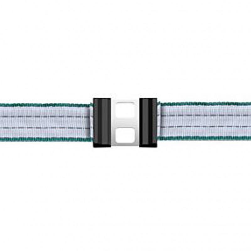 Verbindingsklem inox voor schriklint 40mm 'Litzclip', 5 stuks