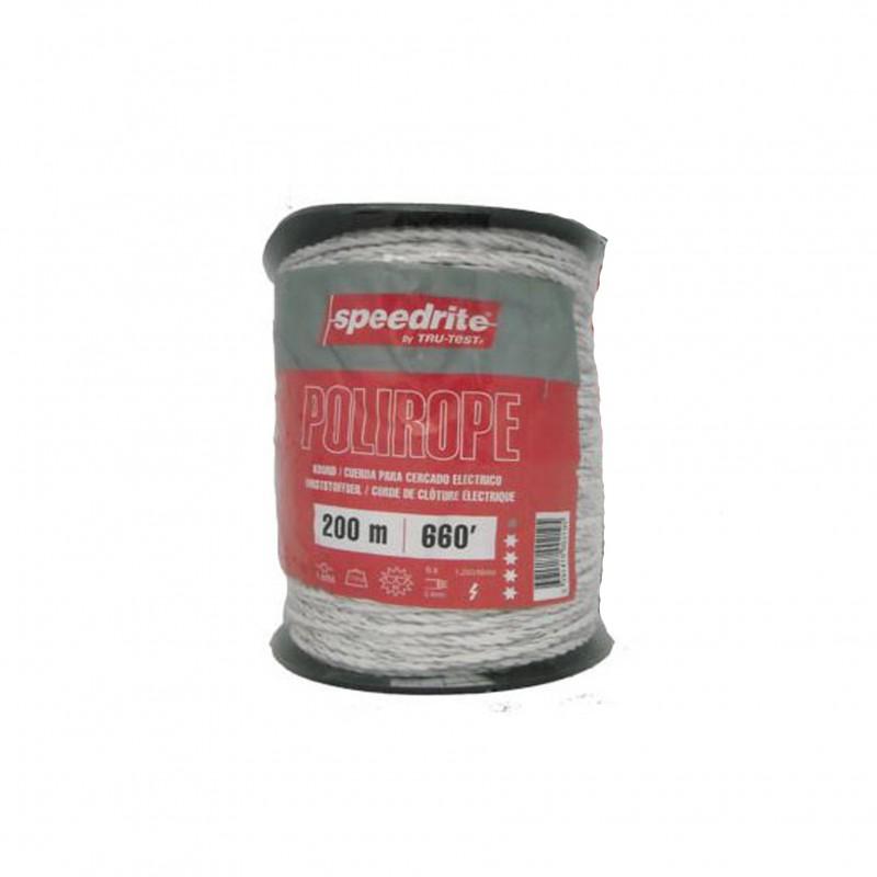 Schrikdraadkoord PE-monofil wit 6mm x 200 meter / 6x 0,40mm Speedrite