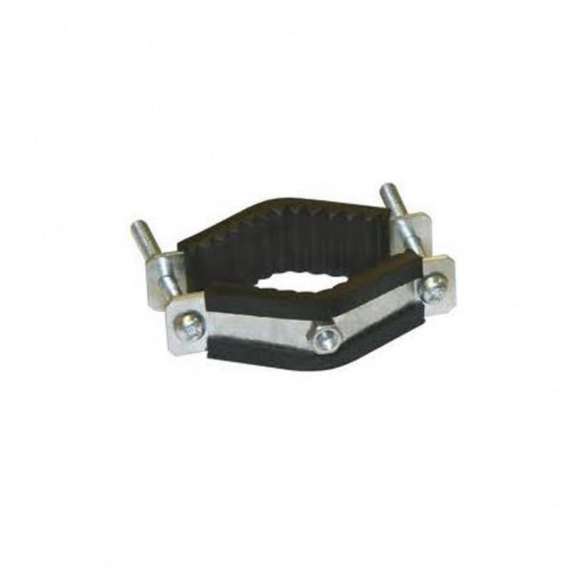 Buisklem voor ronde metalen paal 35-70mm met moer M6