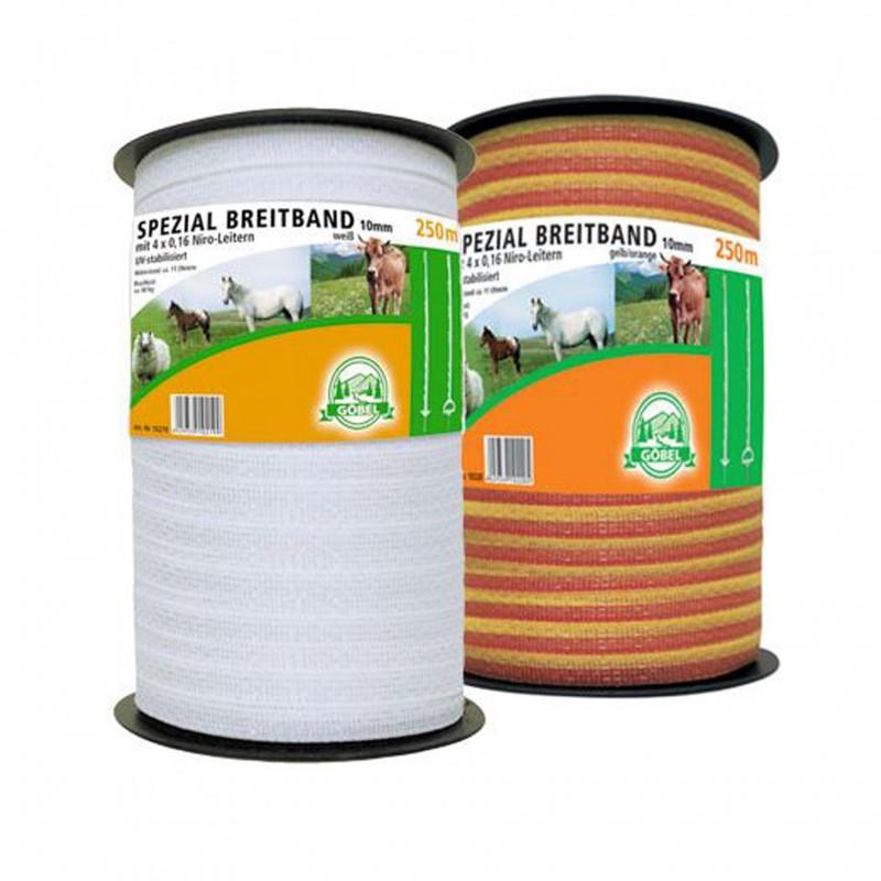 Schriklint 'Spezial' 10 mm x 250 meter geel/oranje Göbel