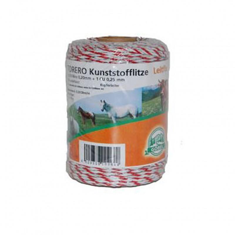 Kunststof schrikdraad 'Torero-Leitfix' wit/rood 1000 meter Göbel