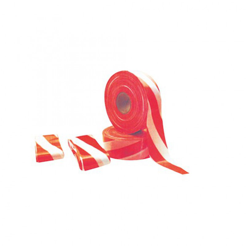 Afbakeningslint rood/wit 50 meter