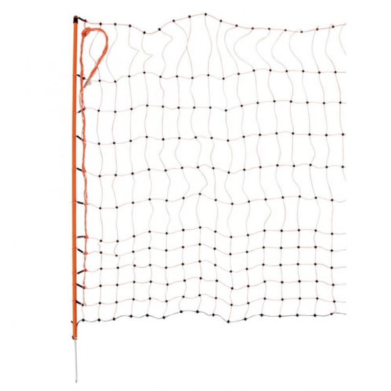 AKO 112/1 oranje afrasteringsnet voor pluimvee, elektrificeerbaar 50m