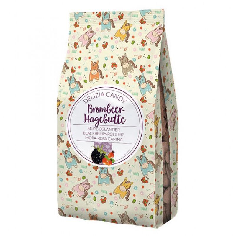 Delizia Candy - Braambes/Rozenbottel 600g