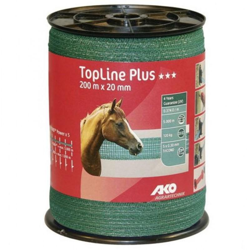 AKO Schriklint 'TopLine Plus' groen 20mmx200m