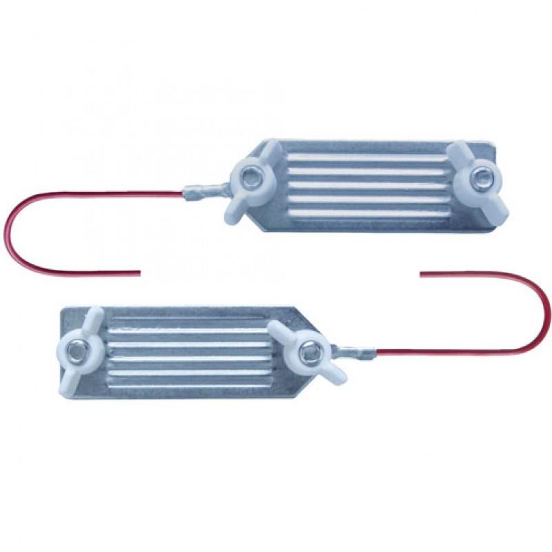 AKO Verbindingskabel voor lint met RVS klemmen, blister 1 stuk