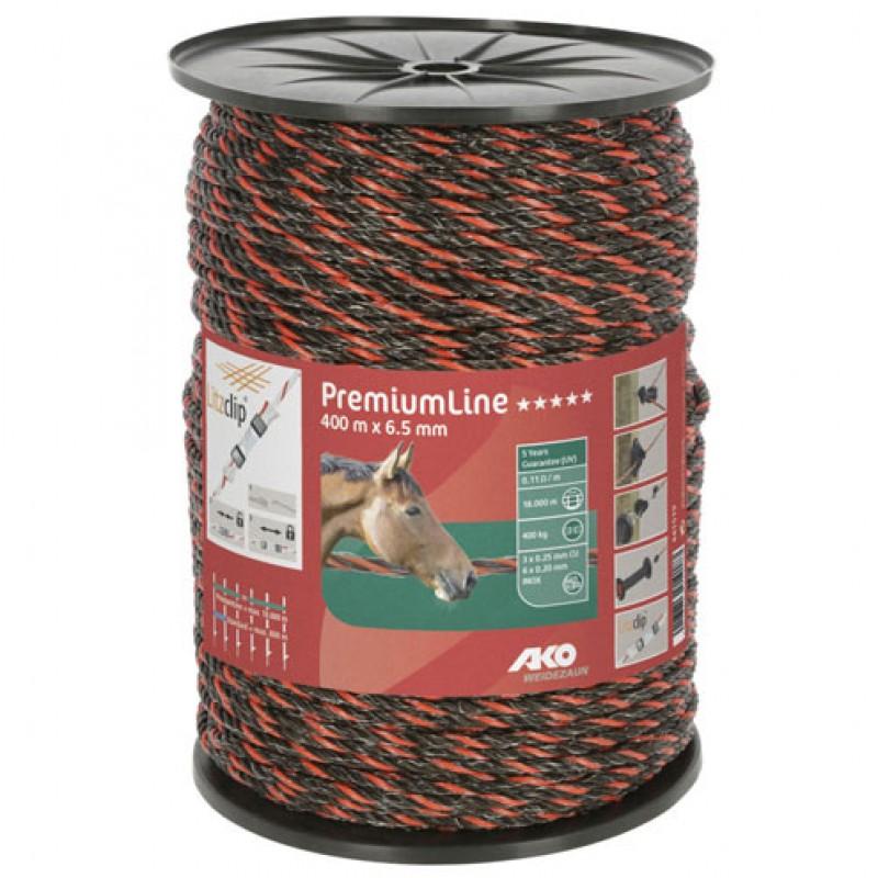 AKO Schrikdraadkoord 'PremiumLine' oranje/bruin 6,5mmx400m