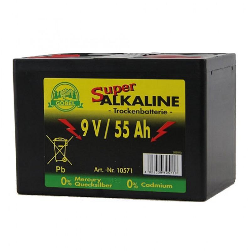pile alcaline 9V/55Ah Göbel