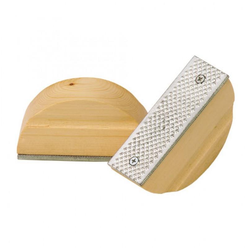 Hoefrasp halfrond met houten grip 125mm