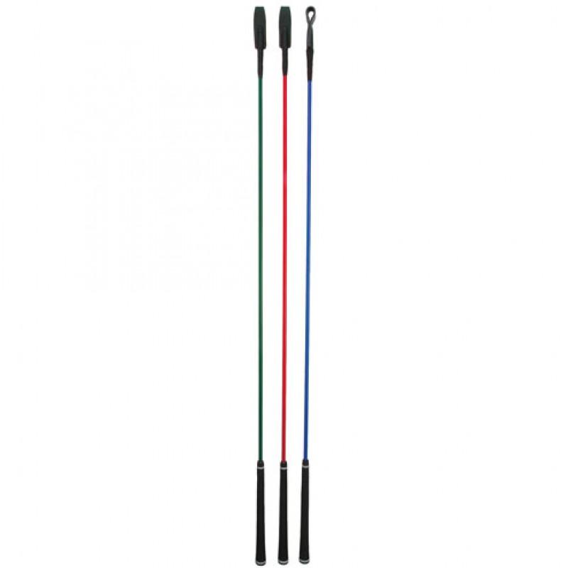 Contactstok met leren slag 120cm
