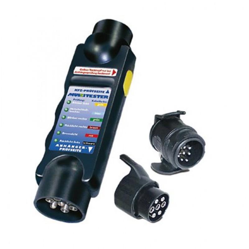 Tester voor lichten aanhangwagen 1 set met 2 adapters