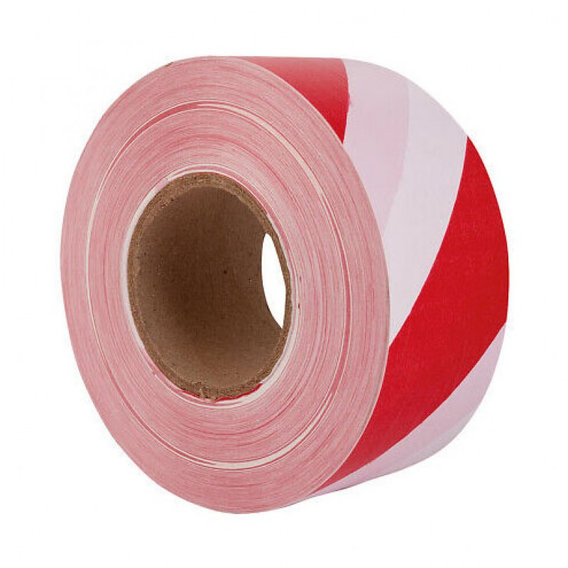 Afbakeningslint rood/wit 70mm x 500m Perry