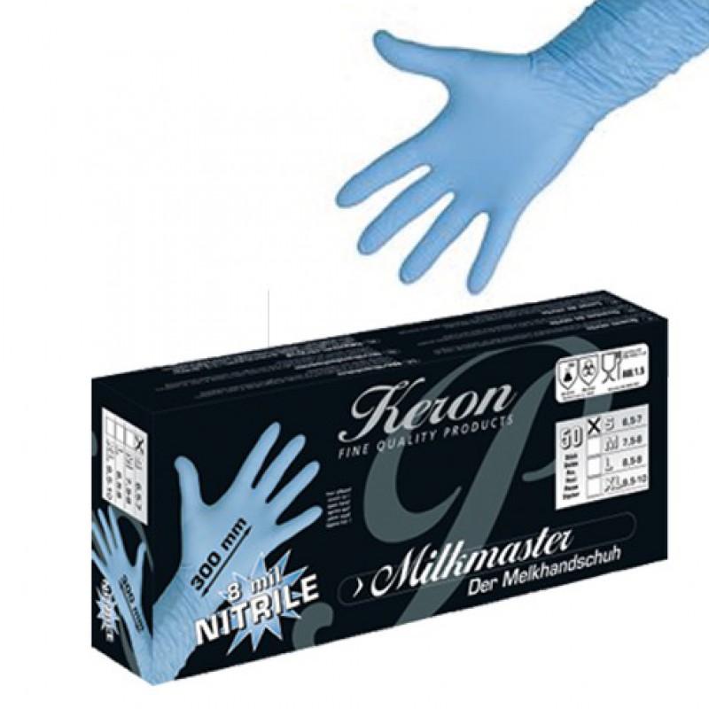 Melkershandschoenen 'Milkmaster Nitrile Premium' 300mm, per 50 stuks, Keron