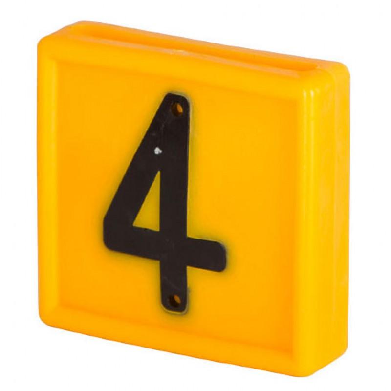 Nummerblokje 48x46mm voor halsmarkering '4'