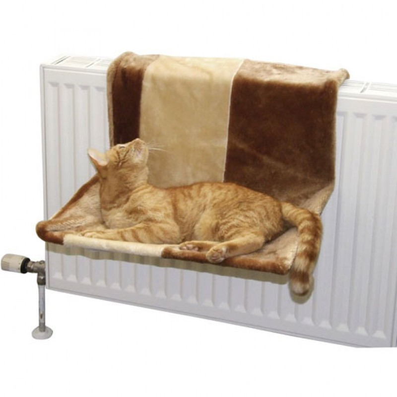 Kattenhangmat 'Paradijs' 50x35cm bruin/beige