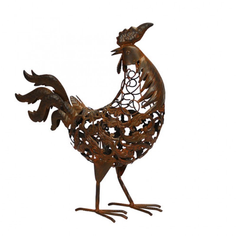Rusty metal Rooster Primus