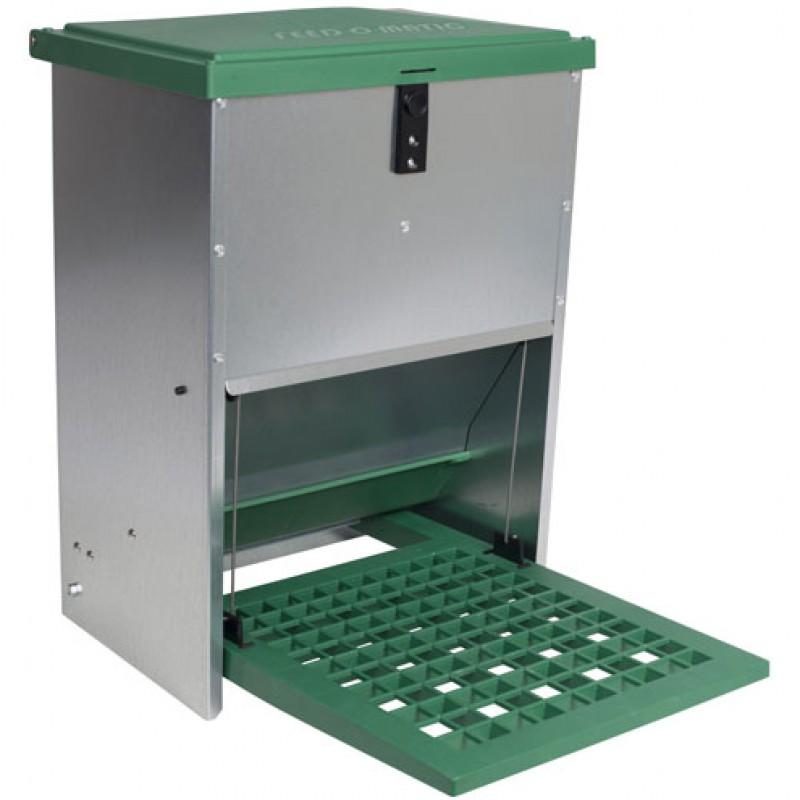 Eetbak voor pluimvee met trapplaat PVC 12kg