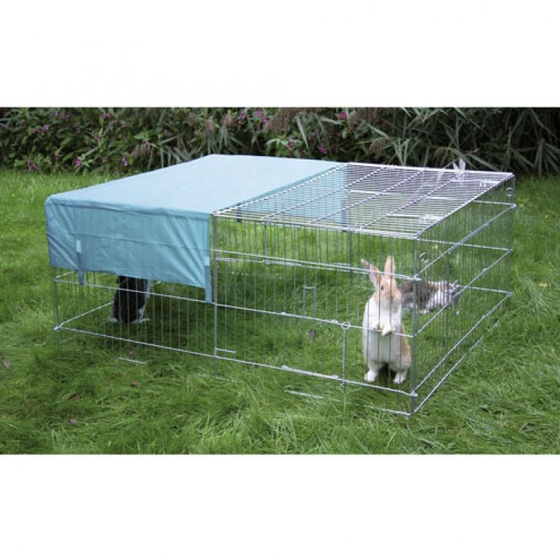 Buitenren voor grote konijnen 144x112x60cm