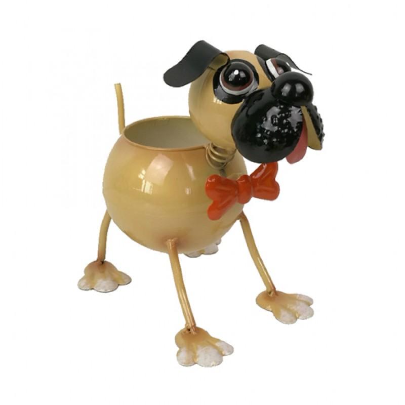 Nodding Pug Metal Dog Planter Primus