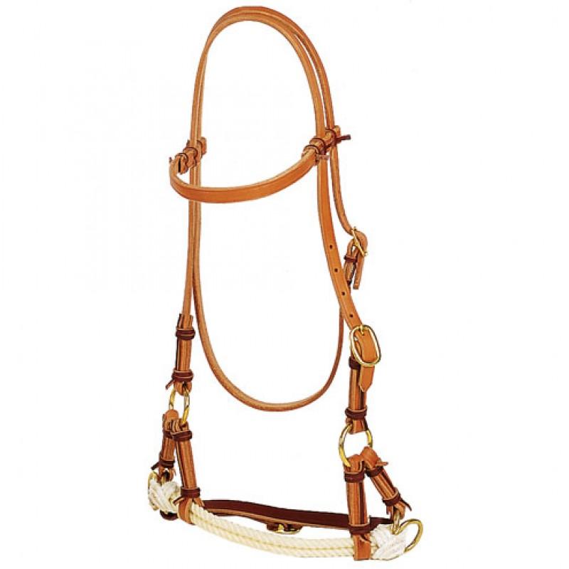Side-Pull 2-Rope Harnessleder