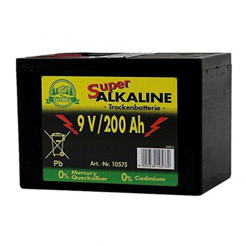 Pile alcaline 9V/200Ah Göbel