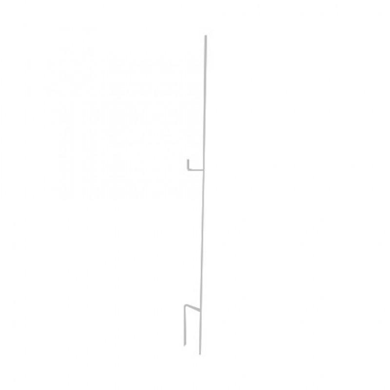 Stalen rantsoenpaal met 2 isolatorsteunen 12mm - 150cm, grijs