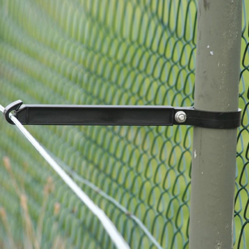Kunststof afstandsisolator 25cm draad/koord voor ronde palen