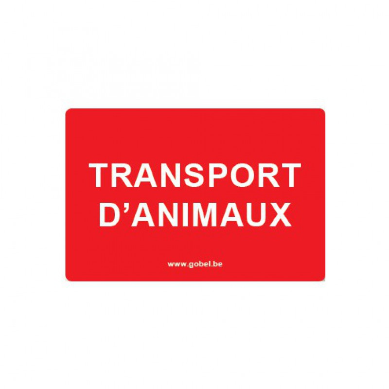 Kunststof bord 'Transport d'animaux'